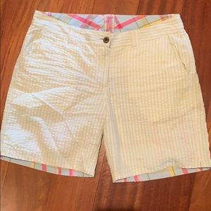 Pants - Women's seersucker madras reversible shorts size 6
